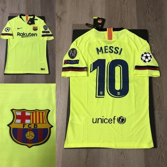 best sneakers 17016 2786c Leo Messi nike soccer jersey Barcelona away NWT
